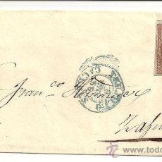 Sellos: ESPAÑA. CARTA DE TRUJILLO A ZAFRA DE 1855.. Lote 10891975