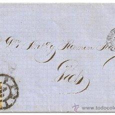 Sellos: EDIFIL Nº 52. RUEDA DE CARRETA Nº 2. FECHADOR DE SALIDA Y LLEGADA. CARTA DE BARCELONA A VICH. 1860.. Lote 10892379