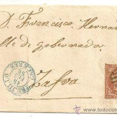 Sellos: ESPAÑA. EDIFIL Nº 40. MATASELLOS DE PARRILLA Y FECHADORES.CARTA CIRCULADA DE TRUJILLO A ZAFRA. 1856. Lote 10906190