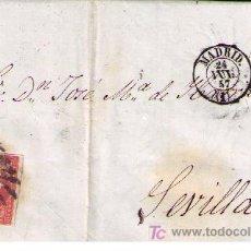 Sellos: CARTA.DE MADRID A SEVILLA.FRANQUEO (48).MATASELLO REJILLA EN NEGRO Y FECHADOR SOBRE PLIEGO.24/JUL/57. Lote 16621285