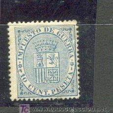 Sellos: 10 CENT. ESCUDO DE ESPAÑA. AÑO 1874. IMPUESTO DE GUERRA. NÚMERO CATÁLOGO EDIFIL 142. Lote 26799448