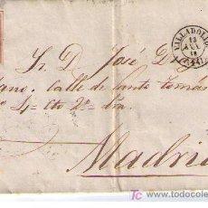 Sellos: CARTA DE VALLADOLID A MADRID.FRANQUEADA CON Nº 48 MATASELLADO CON PARRILLA NEGRA Y S/ PLIEGO. Lote 16621289