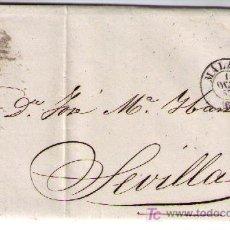 Sellos: CARTA DE MADRID A SEVILLA.FRANQUEADA CON Nº 48 MATASELLADO CON REJILLA EN NEGRO Y S/ PLIEGO TIPO II. Lote 16621293
