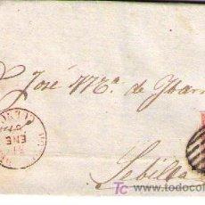 Sellos: CARTA DE MOTILLA DEL PALANCAR (CUENCA).FRANQUEADA CON Nº 48 MATASELLADO CON PARRILLA EN NEGRO Y. Lote 18119635