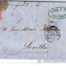Sellos: CARTA DE S.SEBASTIÁN A SEVILLA.FRANQUEADO CON Nº 48 MATASELLADO CON PARRILLA NEGRA Y S/ PLIEGO FE-. Lote 16621298