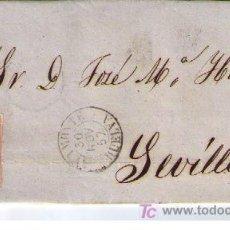 Sellos: CARTA DE AYAMONTE (HUELVA) A SEVILLA.FRANQUEADA CON Nº 48,MATASELLADA CON PARRILLA NEGRA.. Lote 18119638