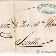 Sellos: CARTA DE LA CAROLINA (JAEN) A SEVILLA.FRANQUEADA CON Nº 48,MATASELLADO CON PARRILLA NEGRA.. Lote 18119639