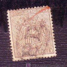 Selos: ESPAÑA.- EDIFIL Nº 153 II, MATASELLADO CON MARCA PD EN NEGRO, ( TORT 393 ). Lote 13091223