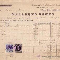 Sellos: (CAT.236,FISCAL 18). BARCELONA. 1898. FACTURA REINTEGRADA CON SELLO FISCAL Y IMPUESTO DE GUERRA.BTO.. Lote 27441304