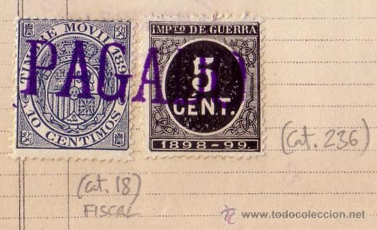 Sellos: FOTO AMPLIADA DE EL SELLO FISCAL Y DEL SELLO DE IMPUESTO DE GUERRA - Foto 2 - 27441304