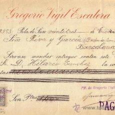 Sellos: POLA DE SIERO(OVIEDO)1899.CHEQUE REINTEGRADO CON SELLO FISCAL E IMPUESTO D GUERRA. MAGNÍFICO Y RARO.. Lote 27142655