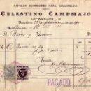 Sellos: (CAT.236,FISCAL19).1898.BARCELONA.FACTURA REINTEGRADA FISCAL Y SELLO IMPTO. DE GUERRA.MAGNÍFICO.RARO. Lote 24268895