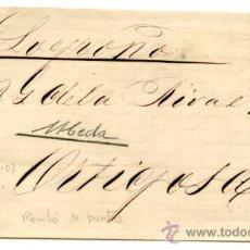 Sellos: ENVOLTURA DE CARTA FRANQUEO Nº107. MATASELLO ROMBO DE PUNTOS CIRCULADA DE UBEDA A ORTIGOSA - LOGROÑO. Lote 27253262
