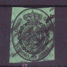 Sellos: ESPAÑA 37 USADA, MATASELLO PARRILLA, MARGEN CORTO. Lote 15487610