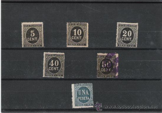 RARA SERIE DE CIFRAS, CON VARIEDADES DE VALOR Y DE COLOR (Sellos - España - Otros Clásicos de 1.850 a 1.885 - Usados)