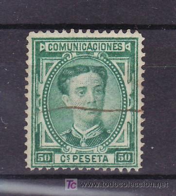 ESPAÑA 179 USADA, ANULADO CON RAYA DE TINTA (Sellos - España - Otros Clásicos de 1.850 a 1.885 - Usados)