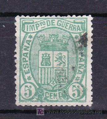 ESPAÑA 154A USADA, VARIEDAD DEFECTO DE PLANCHA -RAYA BLANCA SOBRE LA T DE CENT- (Sellos - España - Otros Clásicos de 1.850 a 1.885 - Cartas)