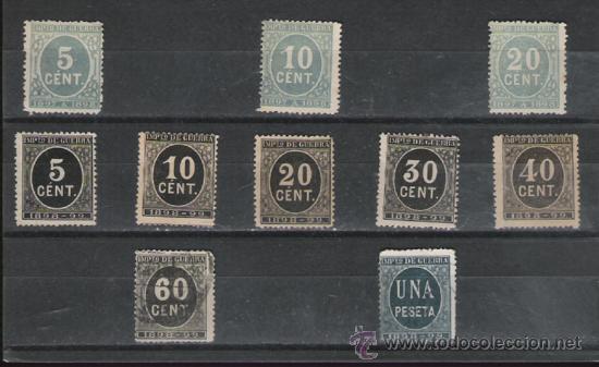 GRAN Y RARO LOTE DE CIFRAS DE 1897/98 (Sellos - España - Otros Clásicos de 1.850 a 1.885 - Usados)