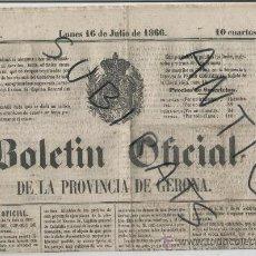 Sellos: TIMBRE DE PERIODICOS CATALOGO ESPECIALIZADO EDIFIL P.10 BOLETIN DE GERONA SELLOS ESPAÑA CLASICOS. Lote 24410415