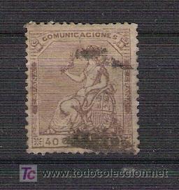 ESPAÑA 1873 - ALEGORIA DE LA REPUBLICA - USADO - EDIFIL 136 (Sellos - España - Otros Clásicos de 1.850 a 1.885 - Usados)