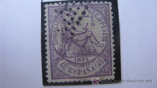 1874 ALEGORIA DE LA JUSTICIA EDIFIL 148 (Sellos - España - Otros Clásicos de 1.850 a 1.885 - Usados)