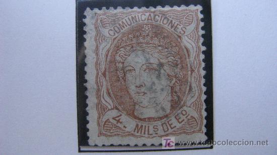 1870 ALEGORIA DE ESPAÑA EDIFIL 104 (Sellos - España - Otros Clásicos de 1.850 a 1.885 - Usados)