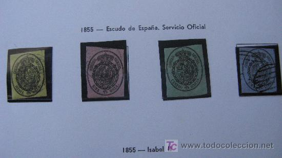 1855 ESCUDO DE ESPAÑA EDIFIL 35/38 (Sellos - España - Otros Clásicos de 1.850 a 1.885 - Usados)