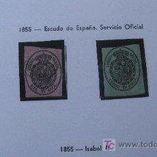Sellos: 1855 ESCUDO DE ESPAÑA EDIFIL 35/38. Lote 27620256