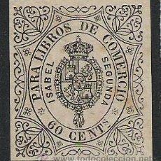 Sellos: 279-SELLO CLASICO ESPAÑA 1865,ADHESIVO,SELLO PARA LIBROS DE COMERCIO,FISCAL. Lote 20023820