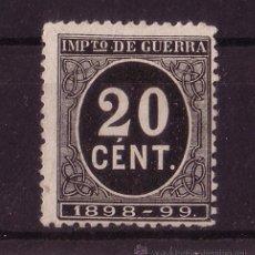 Sellos: ESPAÑA 239* - AÑO 1898 - IMPUESTO DE GUERRA. Lote 17456788