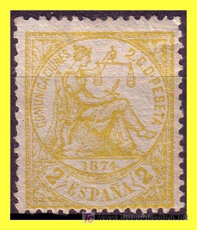 1874 ALEGORÍA DE LA JUSTICIA, Nº 143 * (Sellos - España - Otros Clásicos de 1.850 a 1.885 - Usados)