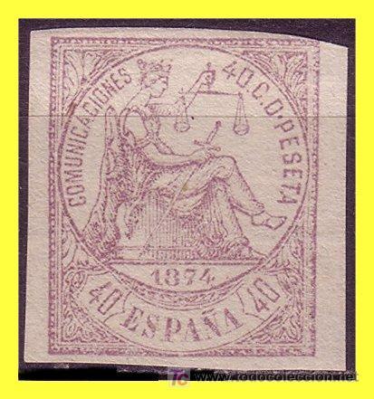 1874 ALEGORÍA DE LA JUSTICIA, Nº 140S (*) (Sellos - España - Otros Clásicos de 1.850 a 1.885 - Usados)