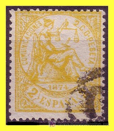 1874 ALEGORÍA DE LA JUSTICIA, Nº 143 (O) (Sellos - España - Otros Clásicos de 1.850 a 1.885 - Usados)