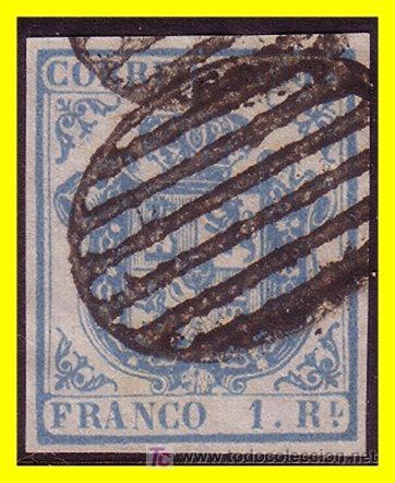 1854 ESCUDO DE ESPAÑA, EDIFIL Nº 33AF (O) (Sellos - España - Otros Clásicos de 1.850 a 1.885 - Usados)