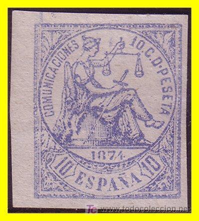 1874 ALEGORÍA DE LA JUSTICIA EDIFIL Nº 145S (*) (Sellos - España - Otros Clásicos de 1.850 a 1.885 - Usados)