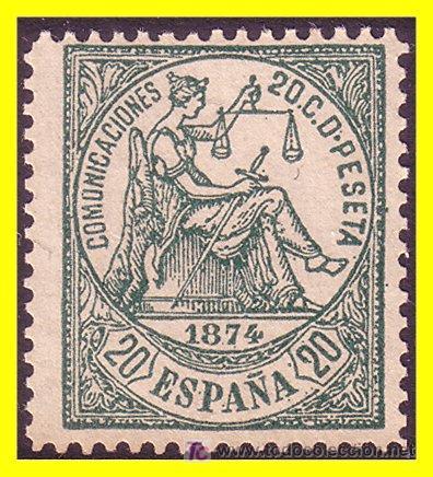 1874 ALEGORÍA DE LA JUSTICIA EDIFIL Nº 146F (*) (Sellos - España - Otros Clásicos de 1.850 a 1.885 - Usados)