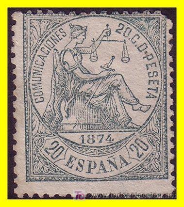 1874 ALEGORÍA DE LA JUSTICIA EDIFIL Nº 146 (*) (Sellos - España - Otros Clásicos de 1.850 a 1.885 - Usados)