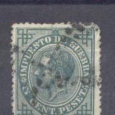 Sellos: ESPAÑA,1876- ALFONSO XII- IMPUESTO DE GUERRA, 5 CTS- USADO. Lote 22164203