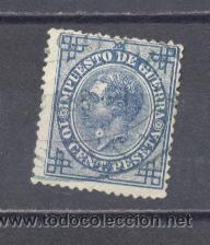 ESPAÑA,1876- ALFONSO XII- IMPUESTO DE GUERRA, 10 CTS- USADO (Sellos - España - Otros Clásicos de 1.850 a 1.885 - Usados)