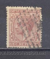 ESPAÑA,1877- ALFONSO XII- IMPUESTO DE GUERRA, 15 CTS- USADO (Sellos - España - Otros Clásicos de 1.850 a 1.885 - Usados)