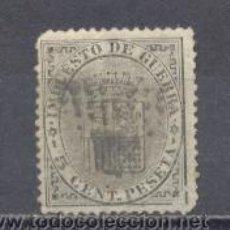 Sellos: ESPAÑA,1874- ESCUDO DE ESPAÑA- IMPUESTO DE GUERRA, 5 CTS- USADO. Lote 22164284