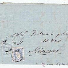 Sellos: CIRCULADO DE REUS A ALBACETE 1870 EDIFIL 107 VALOR 2010 CATALOGO 9.50 EURO. Lote 28448361