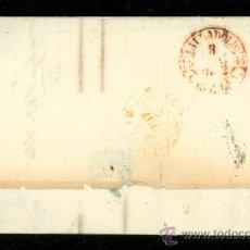 Sellos: CARTA COMPLETA CON SELLO DE 6 CÉNTS. 1852. PARRILLA NEGRA, FECHADOR ROJO, MADRID-VALLADOLID. Lote 29032208