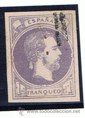 CORREO CARLISTA 1874 VASCONGADAS I NAVARRA EDIFIL 158 MARQUILLADO ROIG (Sellos - España - Otros Clásicos de 1.850 a 1.885 - Usados)