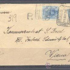 Sellos: 1920.- BARCELONA A AUSTRIA. Lote 31778787