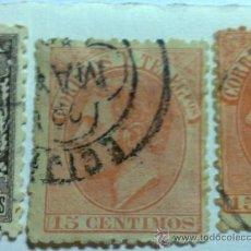 Sellos: ALFONSO XII 1882. 15 CTS. NARARANJA (210 CATALOGO). Lote 31899318