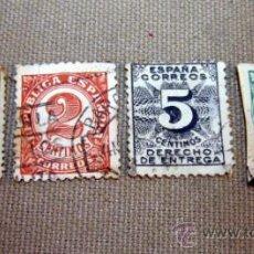 Sellos: SELLO, LOTE DE SELLOS, 4 SELLOS, 20 CTS, 1, 5 Y DE 2 CTS, 1898 Y PRINCIPIOS DE 1900. Lote 32637710