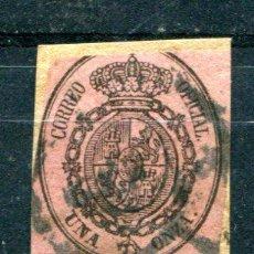 Sellos: EDIFIL 36. UNA ONZA AÑO 1855. SOBRE FRAGMENTO.. Lote 34603036