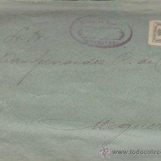 Sellos: CARTA DE HUELVA A MOGUER CON SELLO 173. SELLO DEL BANCO DE ESPAÑA DE HUELVA.. Lote 34942604