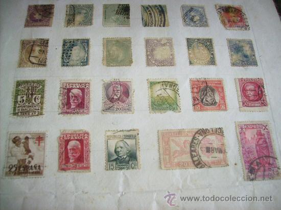 Sellos: 88- SELLOS DE ESPAÑA antigüos - Foto 2 - 35530389